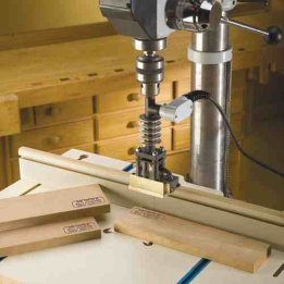 woodworking branding iron drill press
