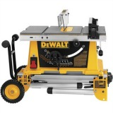 DEWALT DW744XRS 10-in Portable Table Saw with Rolling Stand